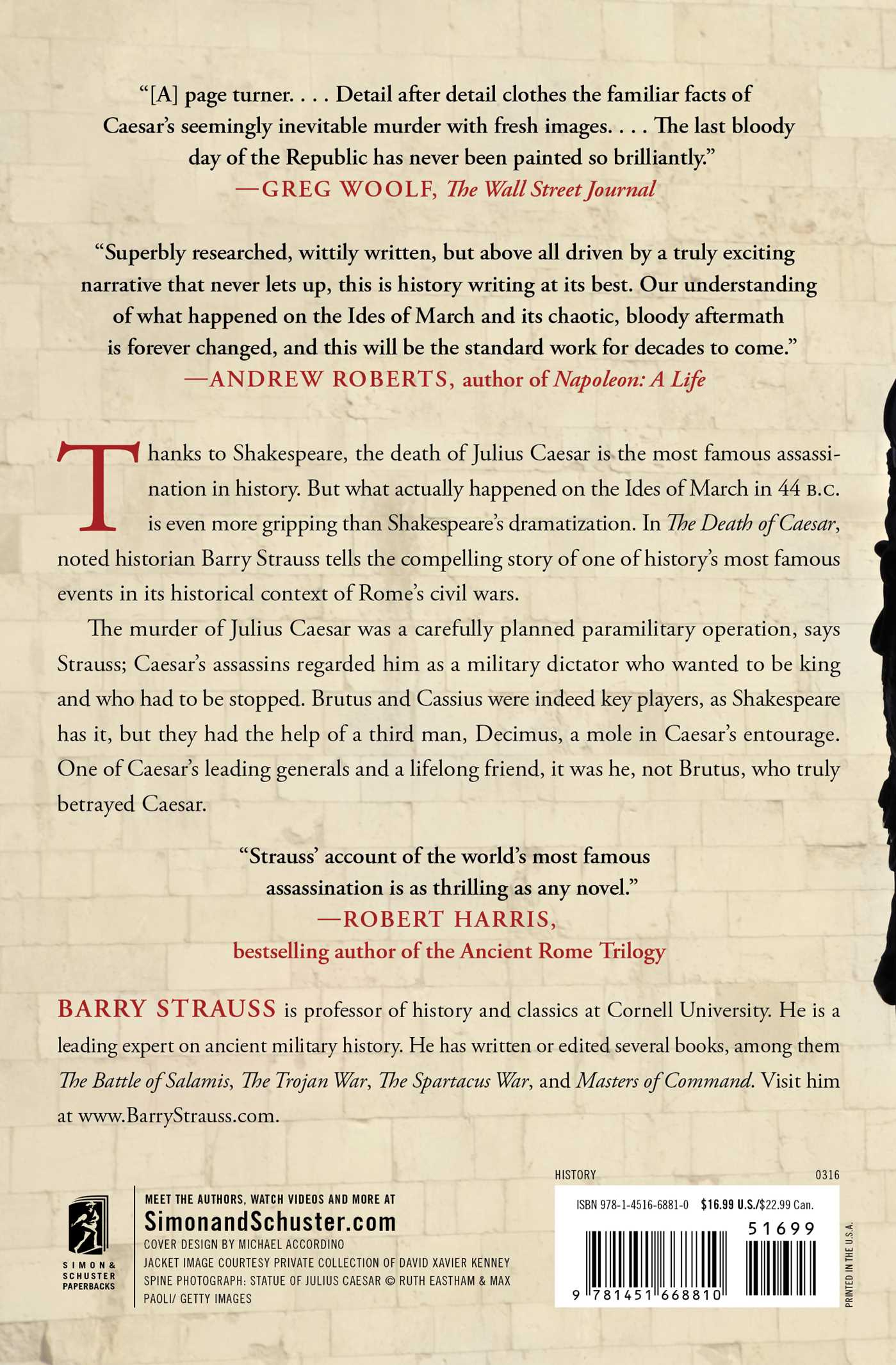 The Death Of Caesar  Book By Barry Strauss  Official Publisher Page   Simon & Schuster