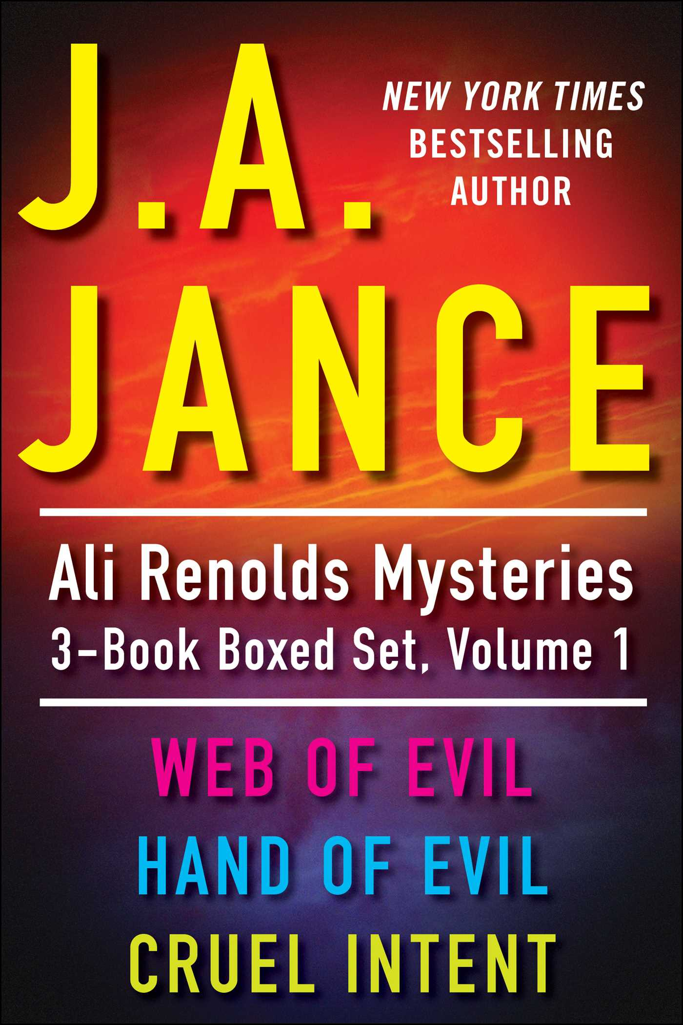 J a jances ali reynolds mysteries 3 book boxed 9781451675771 hr