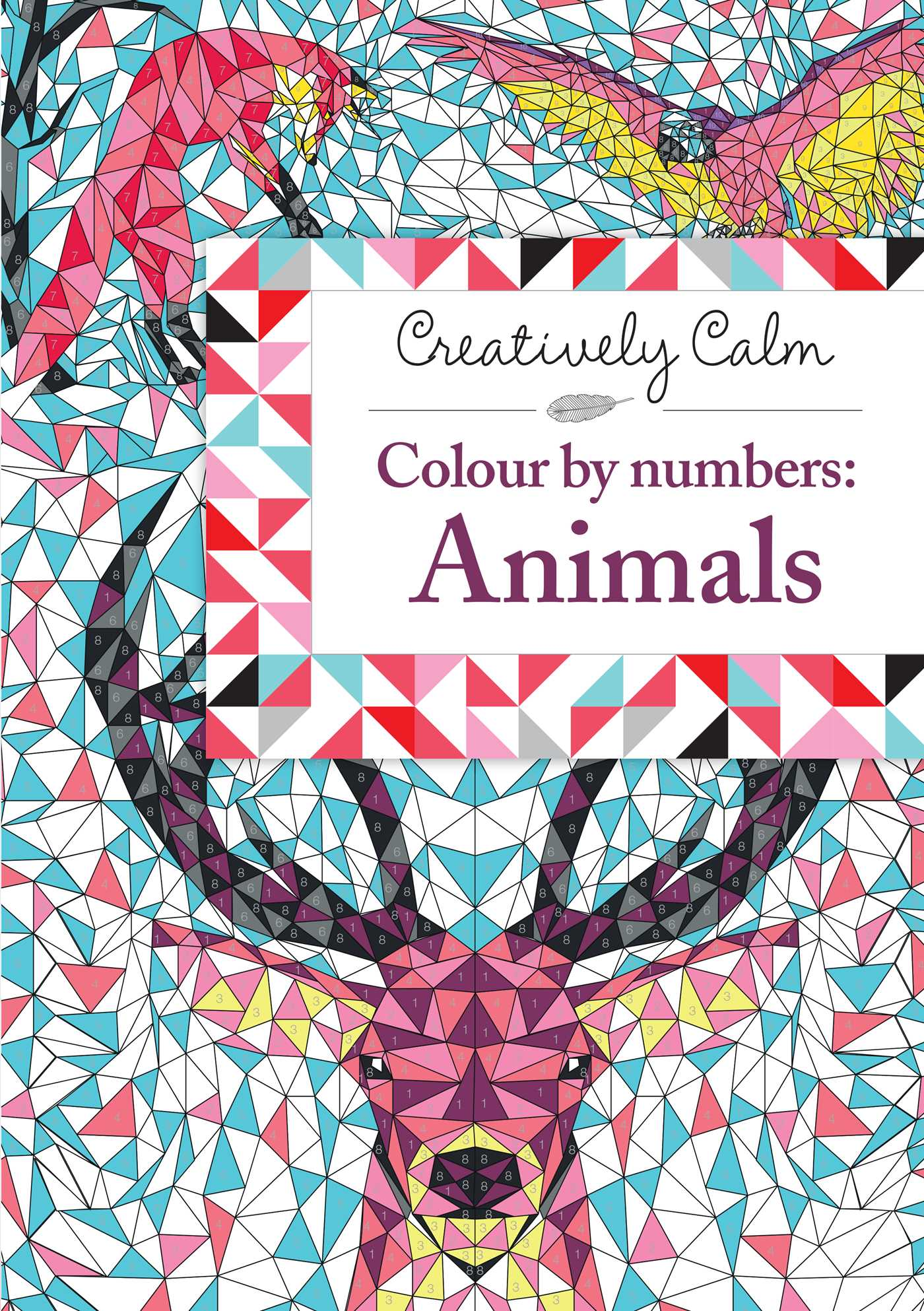 creatively calm colour by numbers animals book by fred kucia
