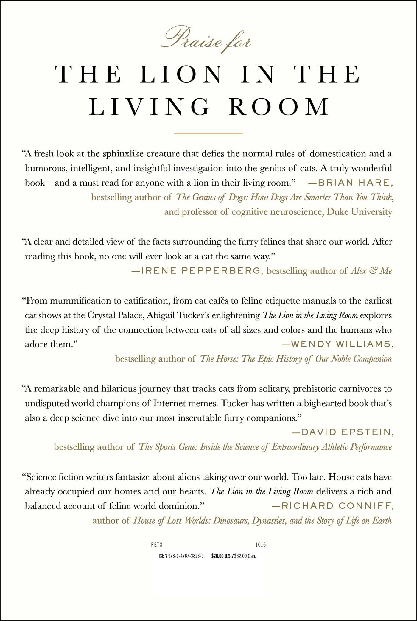 The Lion In The Living Room Book By Abigail Tucker Official Publisher Page Simon Schuster Uk
