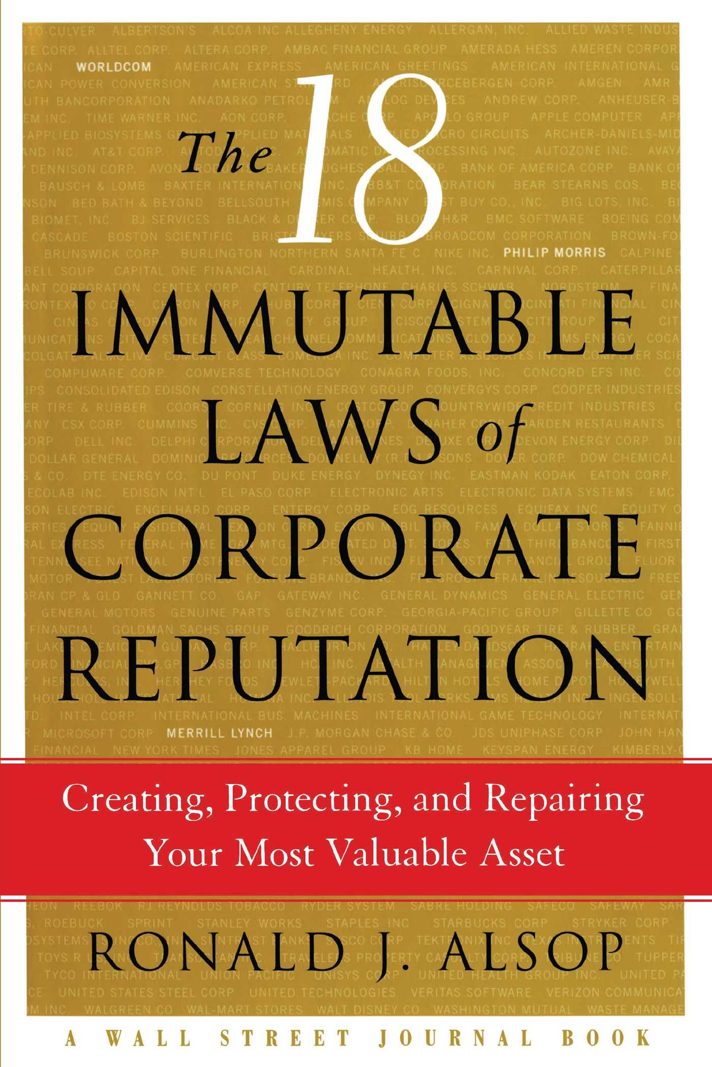 The 18 immutable laws of corporate reputation 9781476757612 hr