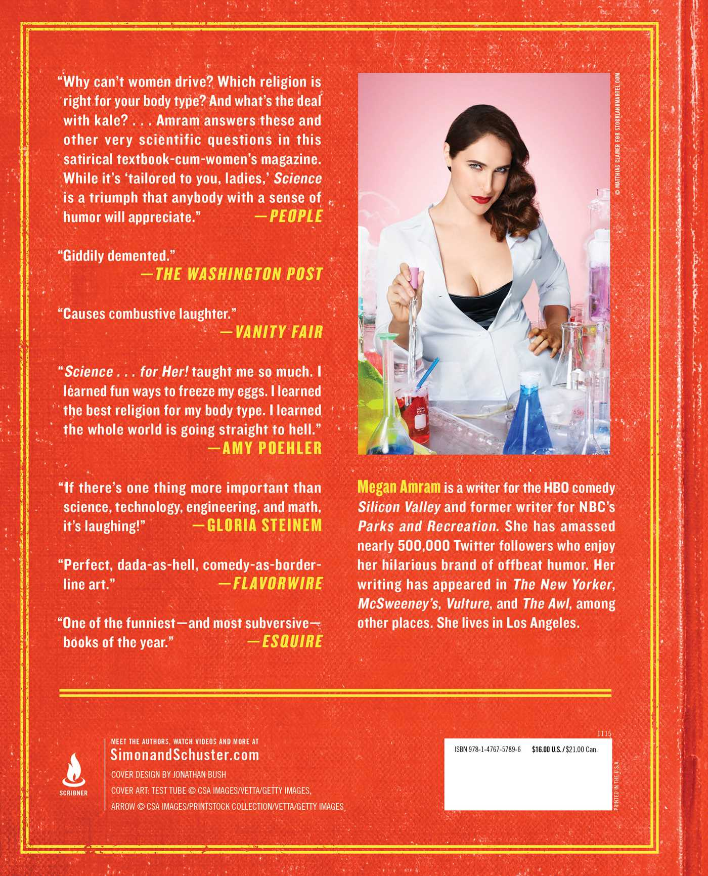 Sciencer her book by megan amram official publisher page science for her 9781476757896 hr back sciox Gallery