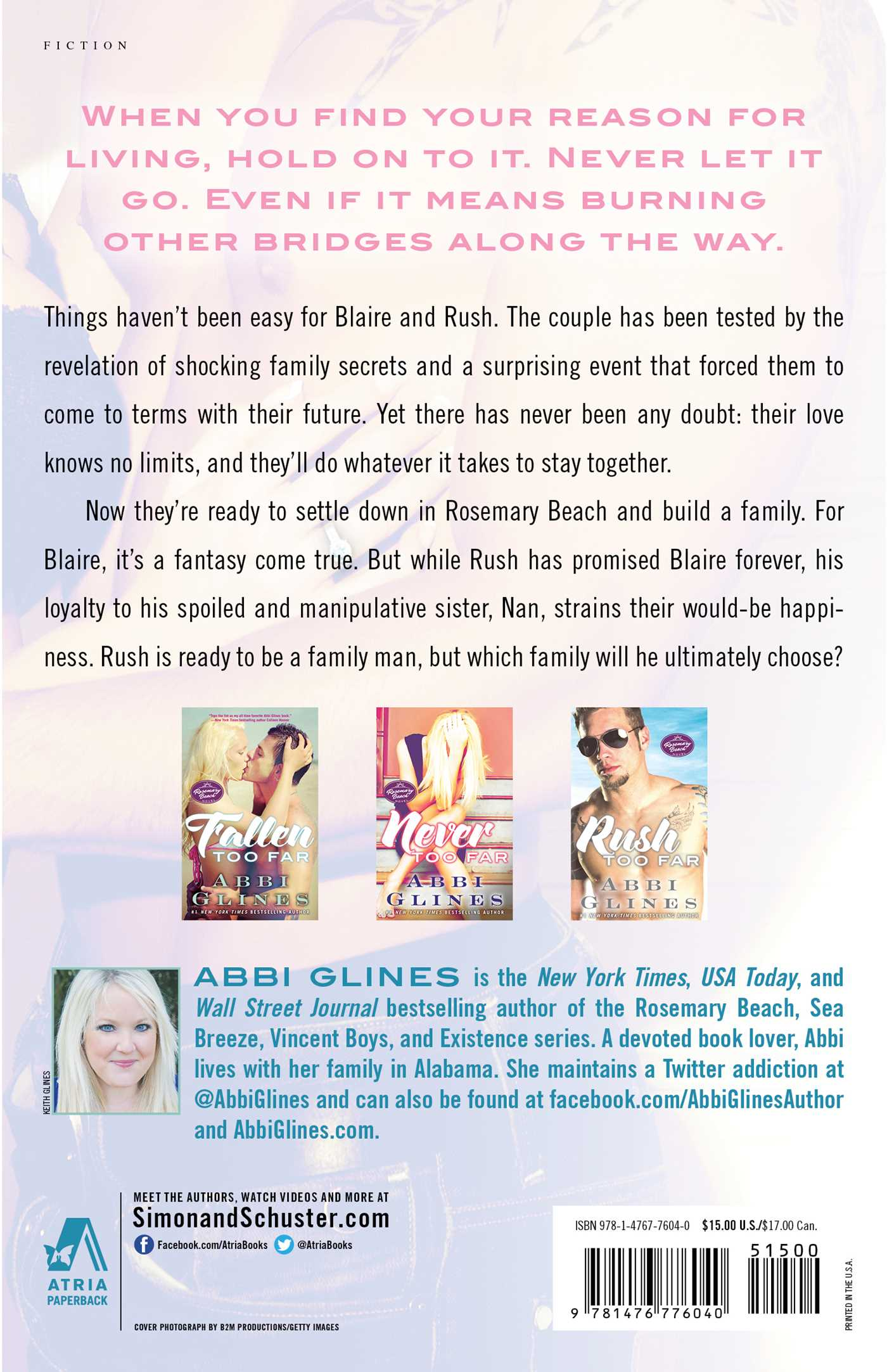 Forever too far book by abbi glines official publisher page forever too far 9781476776040 hr back fandeluxe Gallery