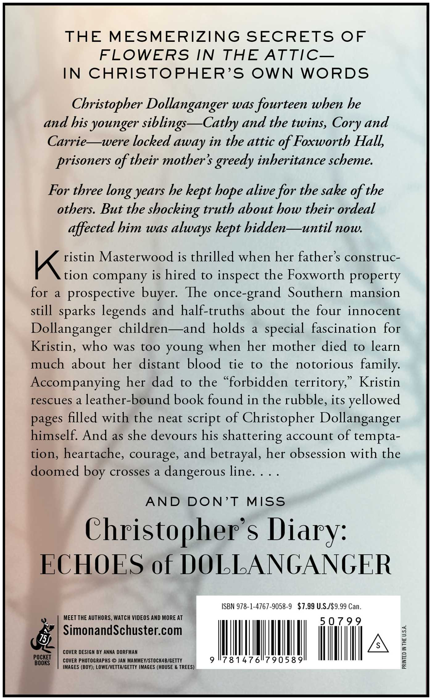 Christophers diary secrets of foxworth 9781476790589 hr back
