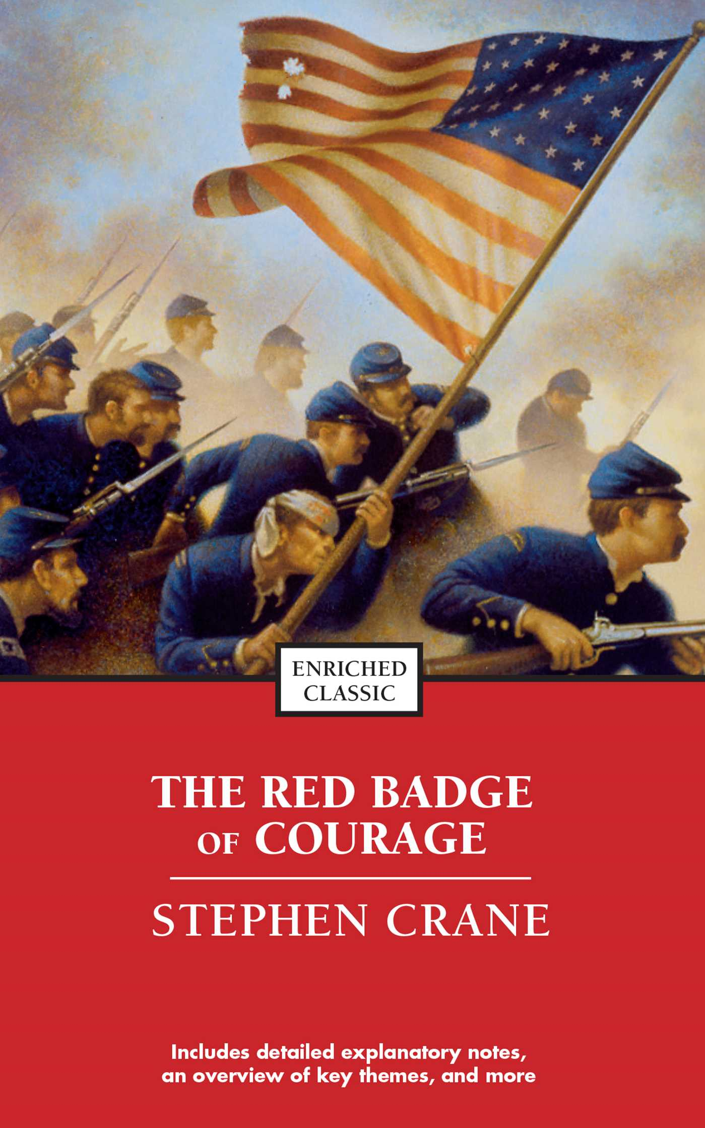 religion in red badge of courage Red is also used as a symbol of courage and sacrifice, as in blood spilt in  sacrifice or courage in the face of lethal danger  as well as in the novel the  red badge of courage, in which a soldier in the american  in religion and  metaphysics.