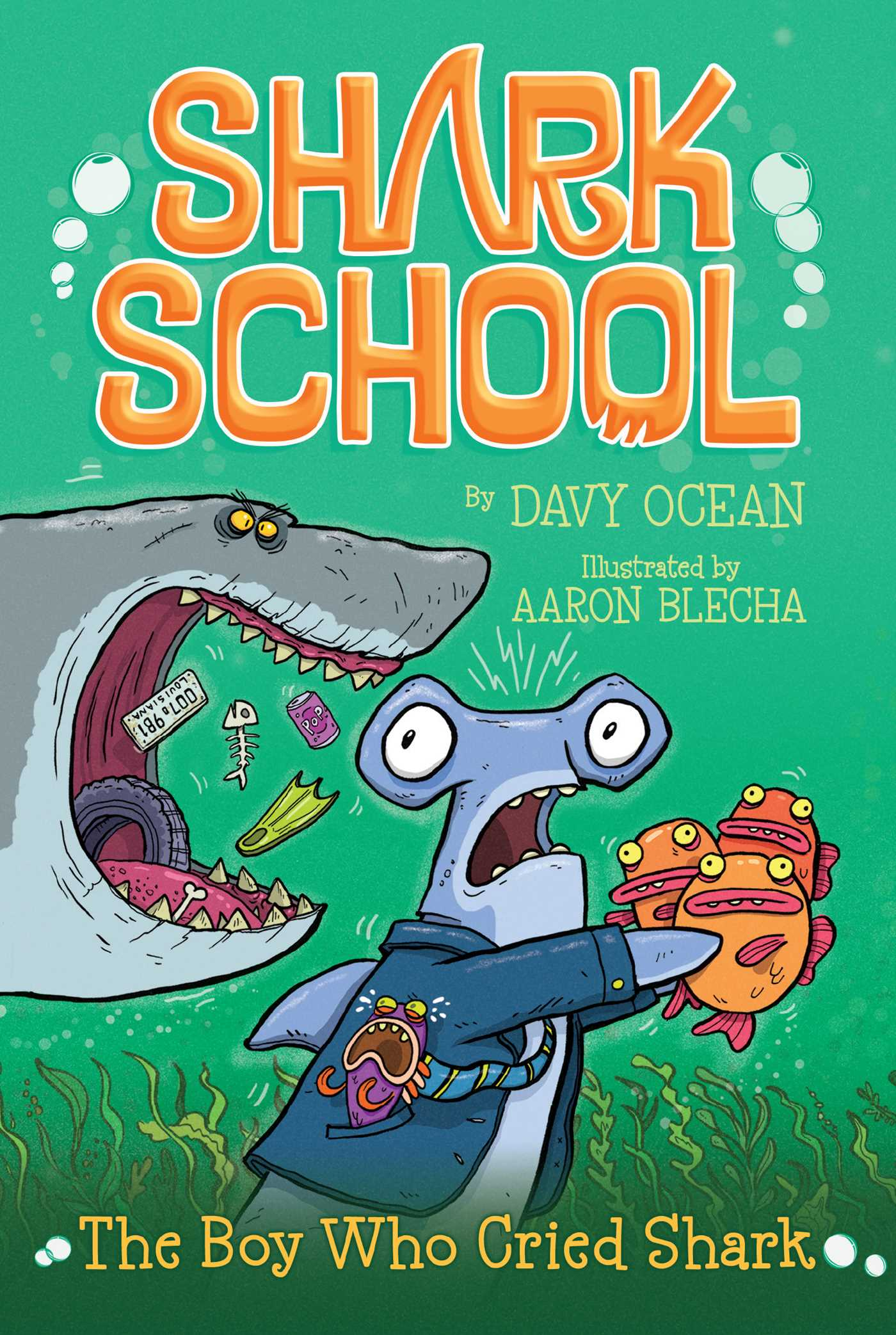 The boy who cried shark book by davy ocean aaron blecha for Children s fish book