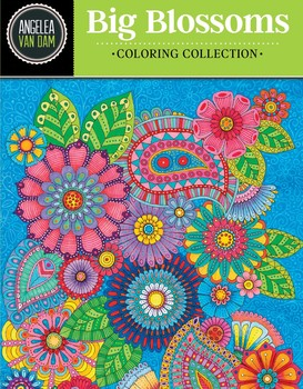 Hello Angel Big Blossoms Coloring Collection