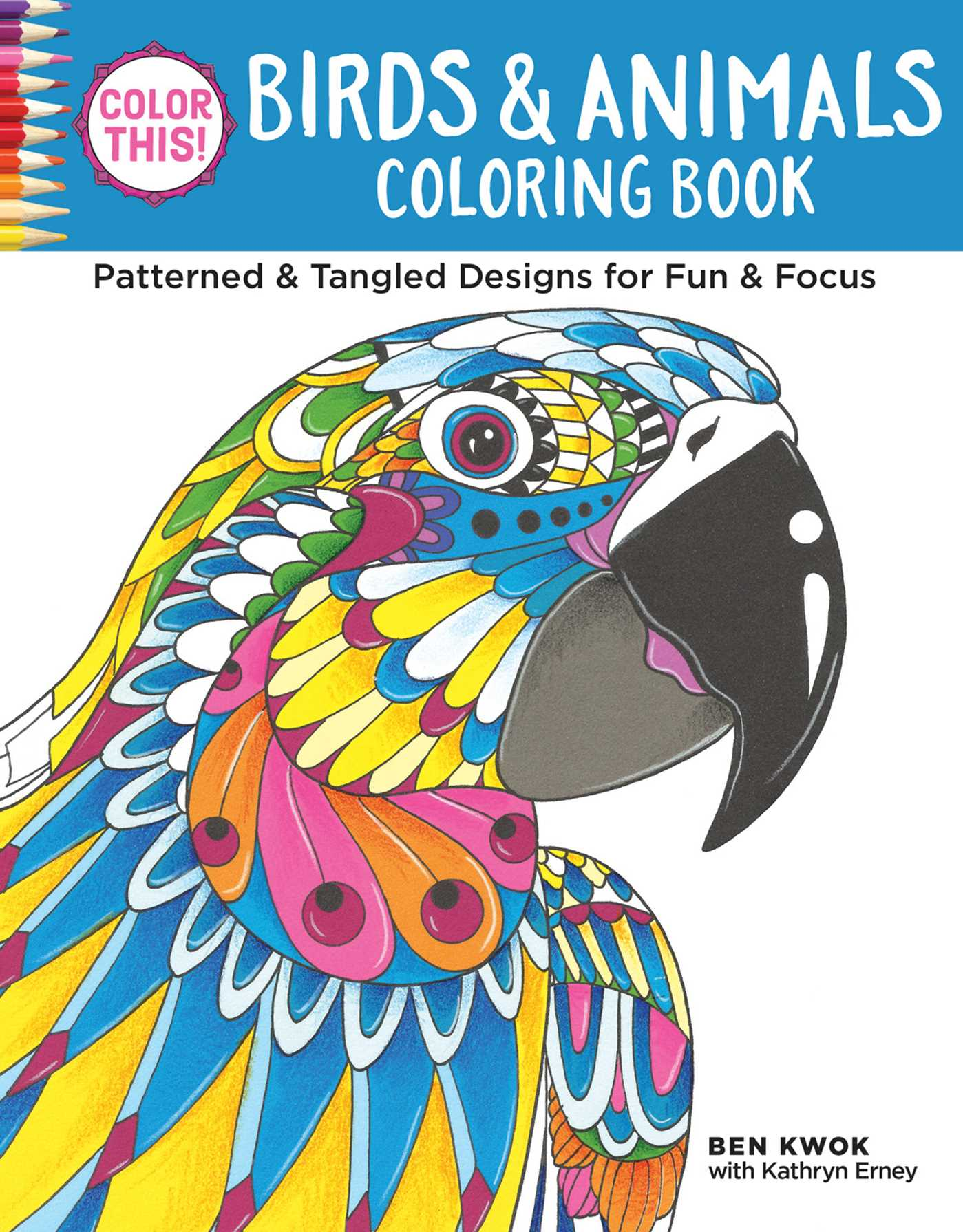 Color This Birds Animals Coloring Book 9781497201729 Hr