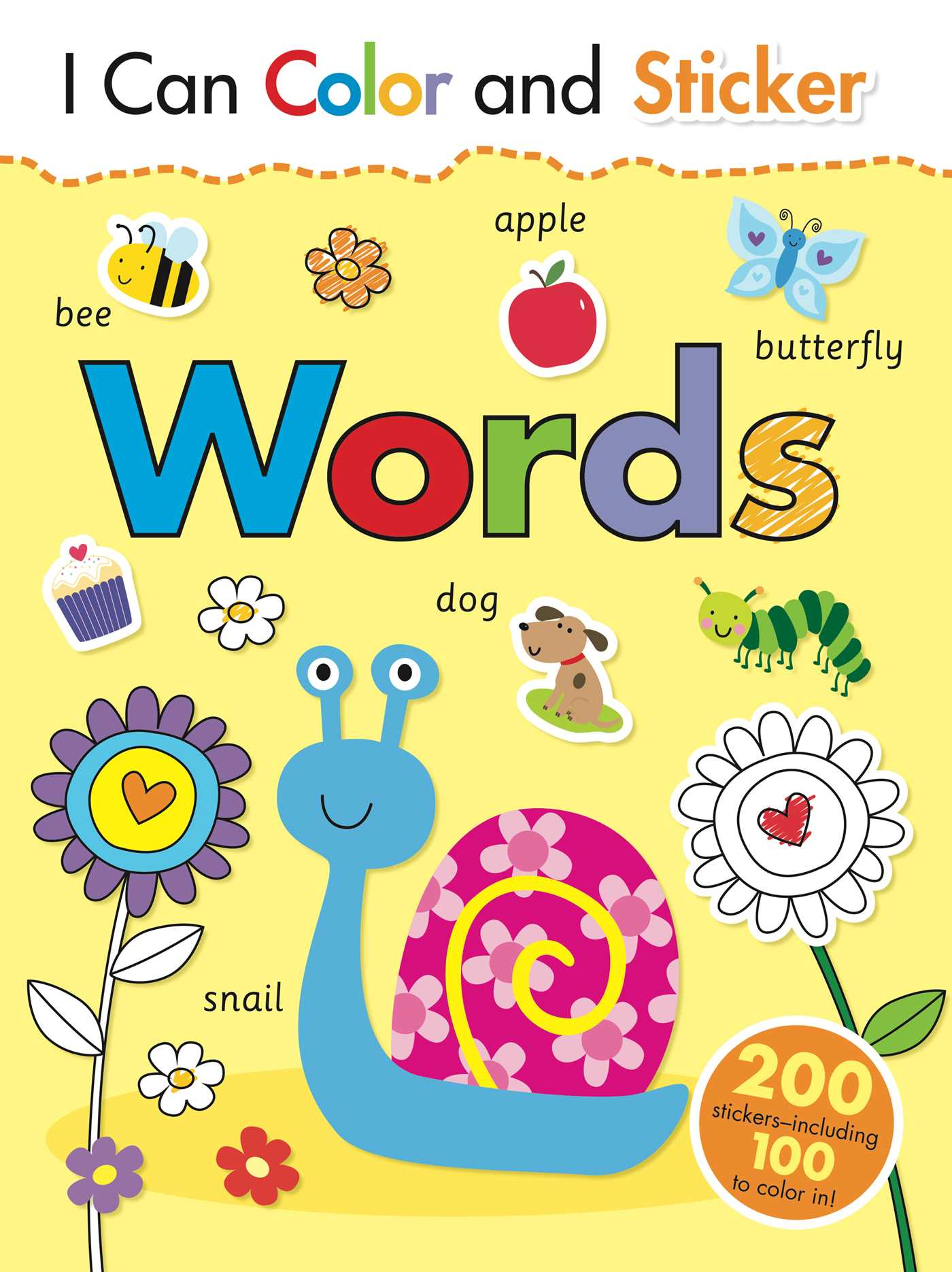 I Can Color and Sticker: Words | Book by Gemma Cooper, Helen Prole ...