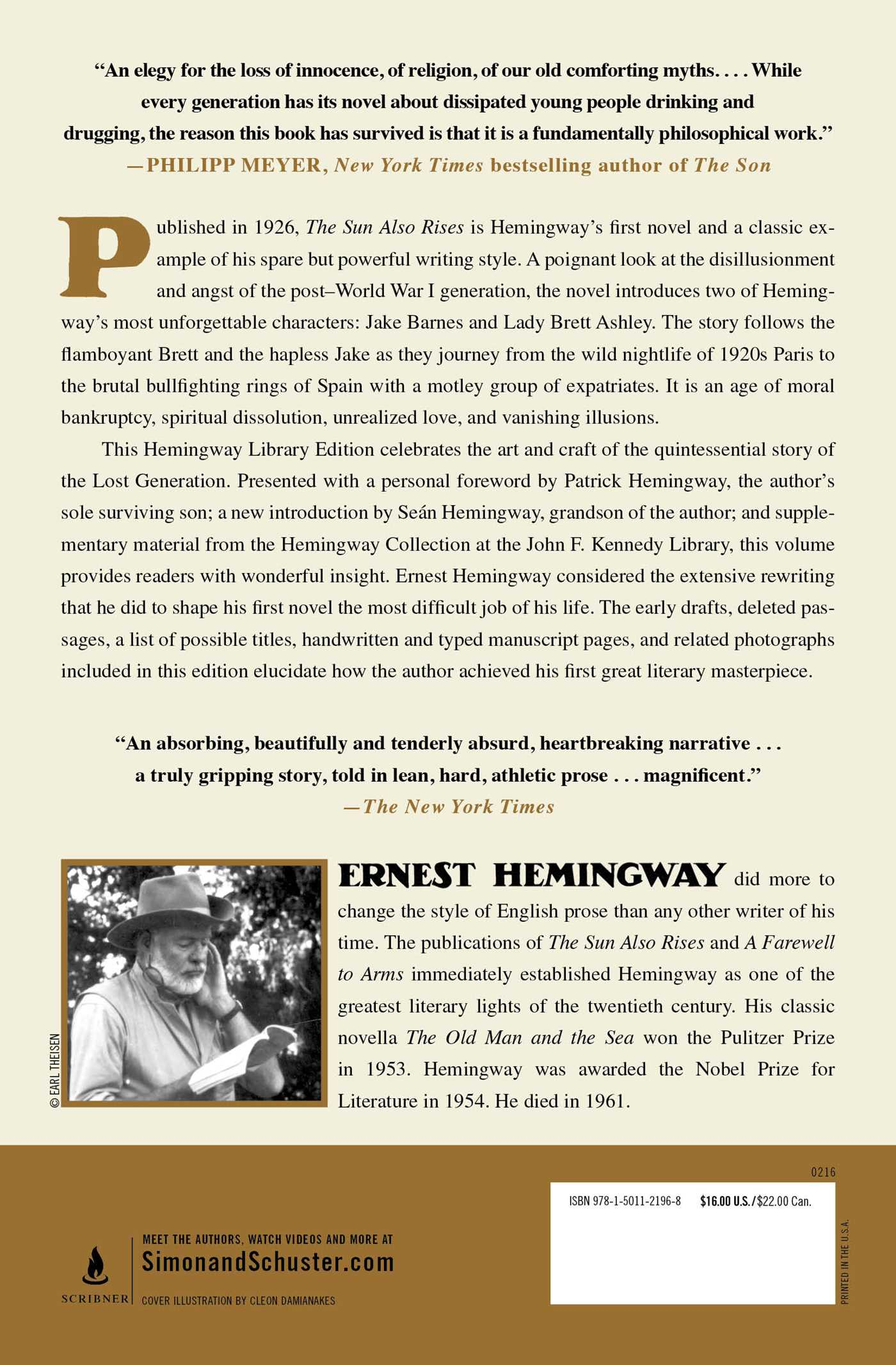 the sun also rises book by ernest hemingway official publisher the hemingway library edition