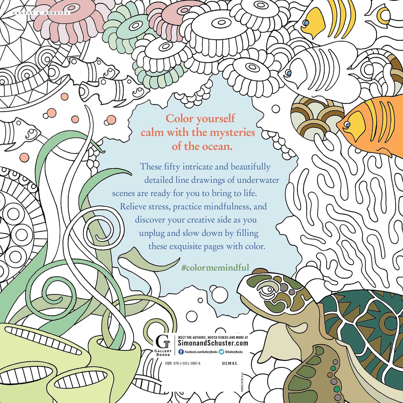 Color Me Mindful Underwater Book by Anastasia Catris