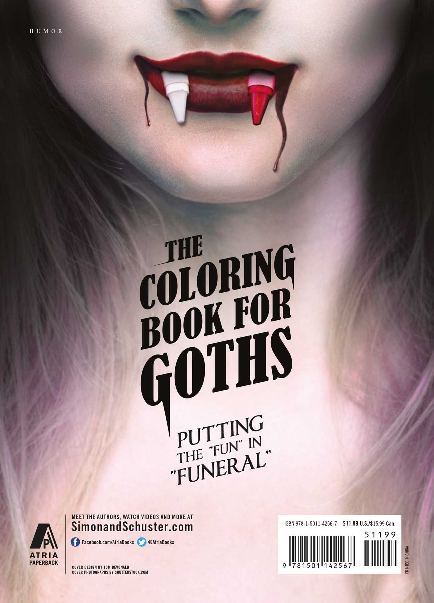 the coloring book for goths 9781501142567 hr back - The Coloring Pages
