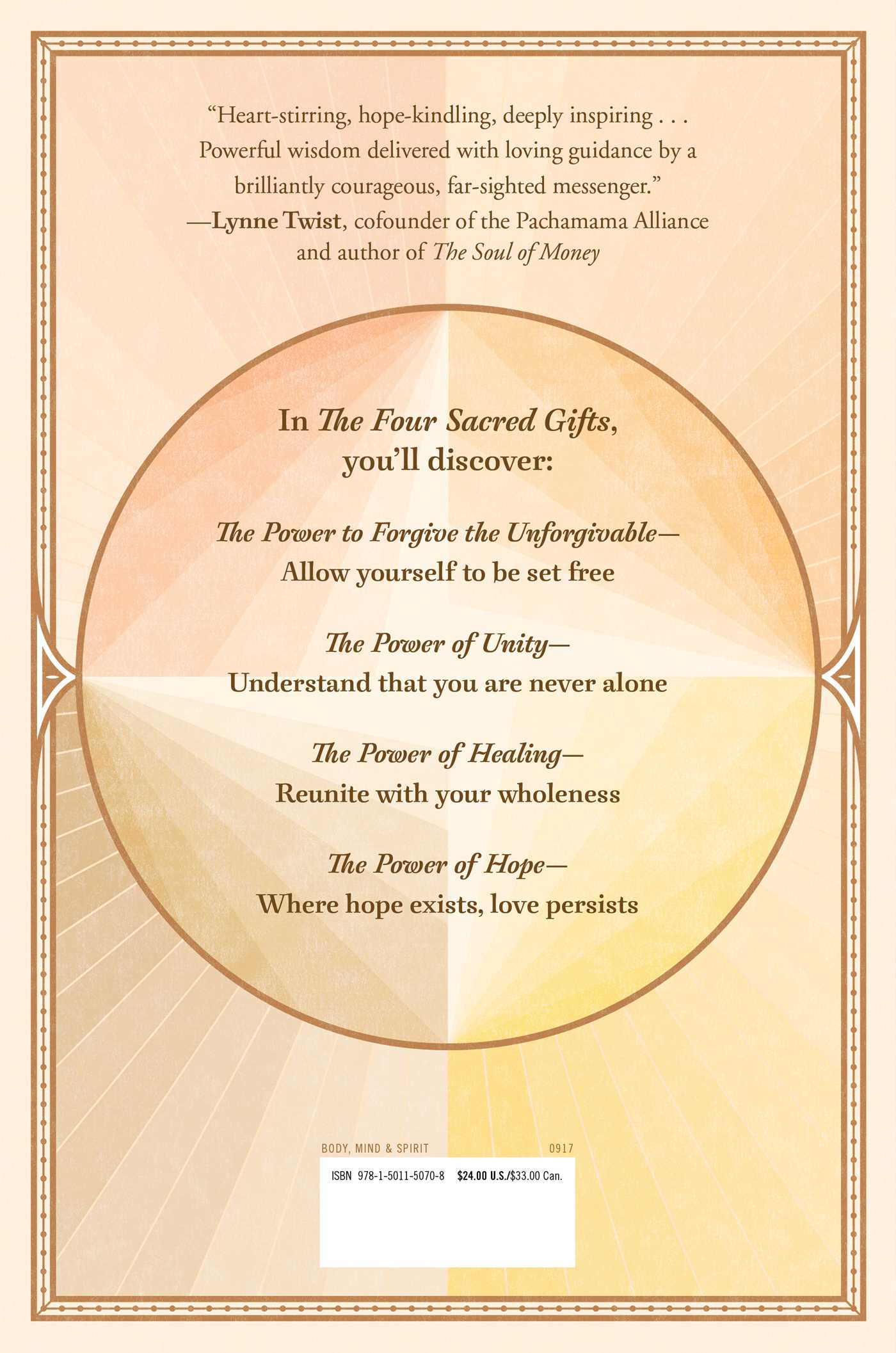 The four sacred gifts 9781501150708 hr back