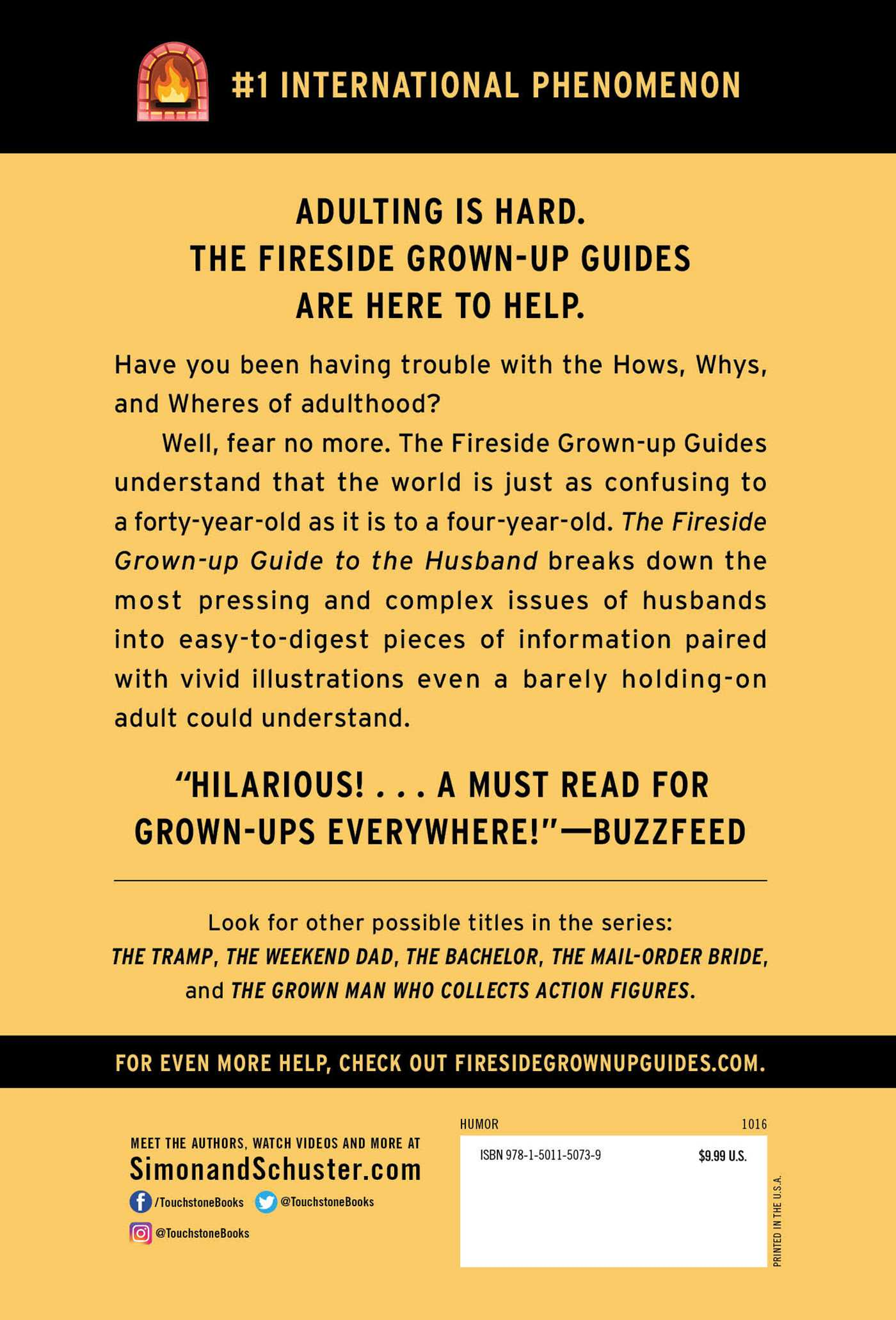 The Fireside Grown Up Guide To The Husband 9781501150739 Hr Back