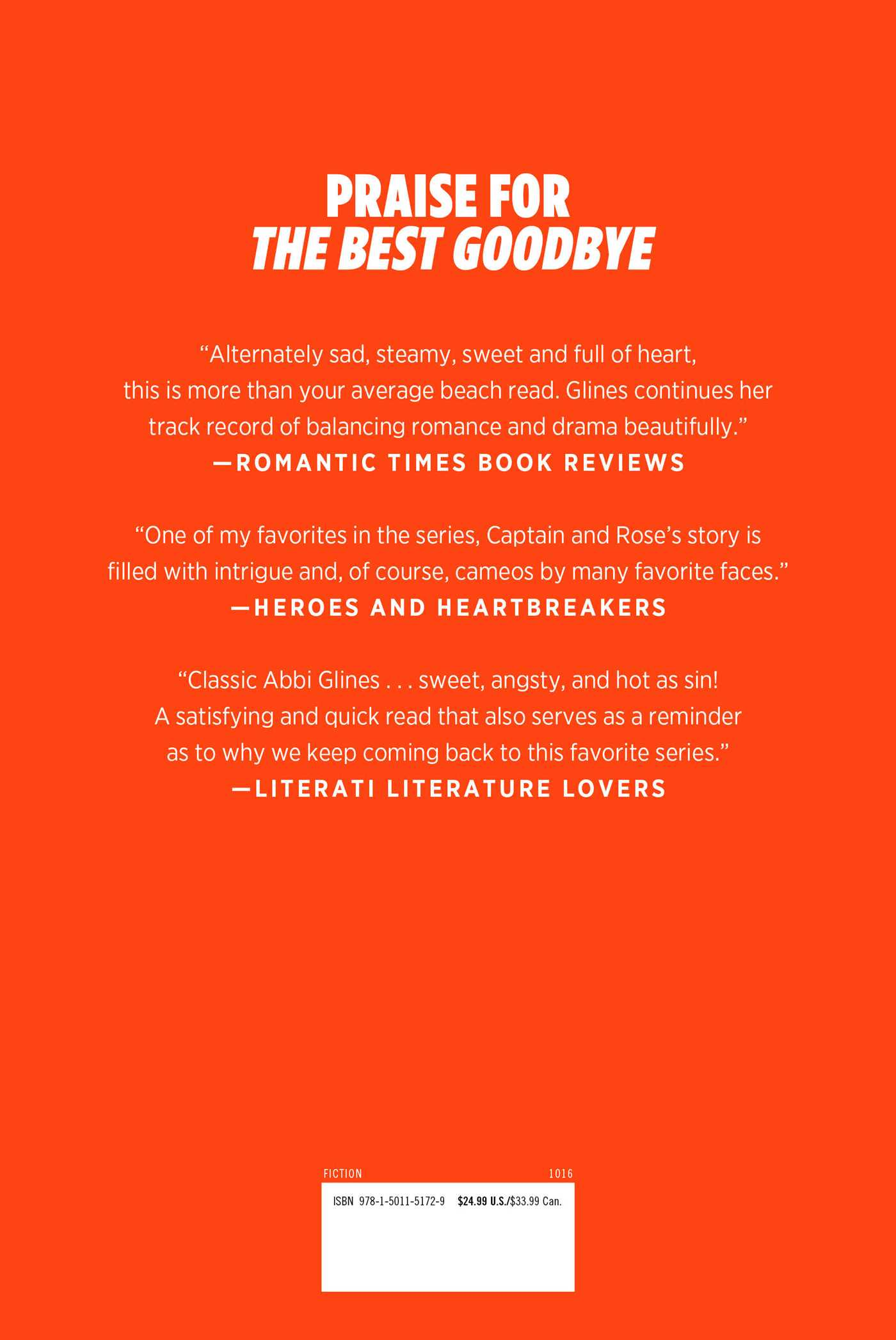 The best goodbye 9781501151729 hr back