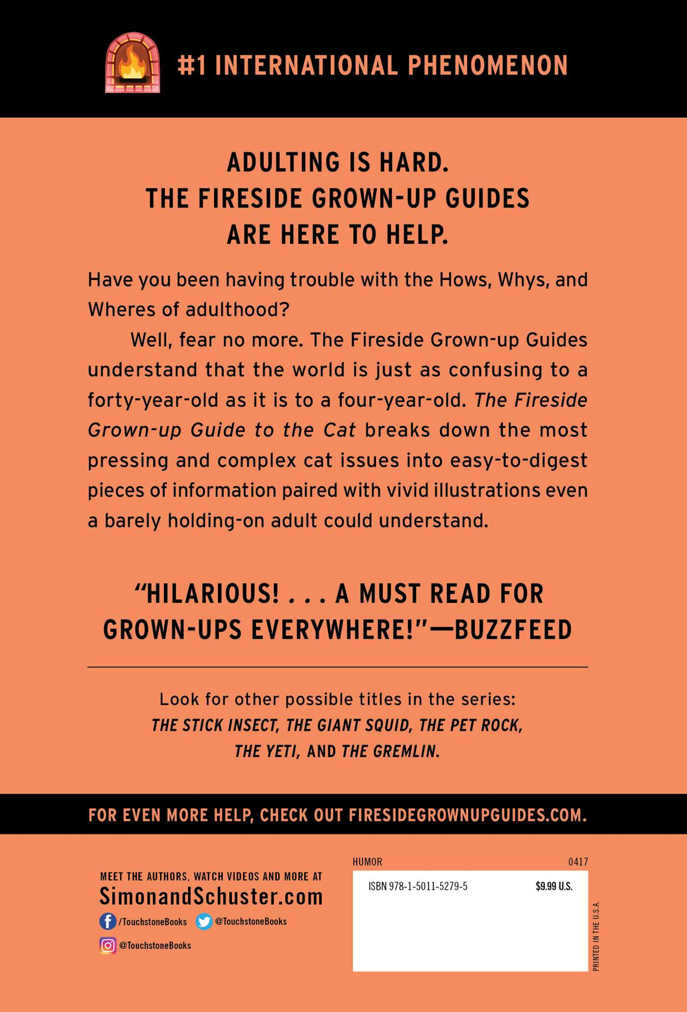 The fireside grown up guide to the cat 9781501152795 hr back