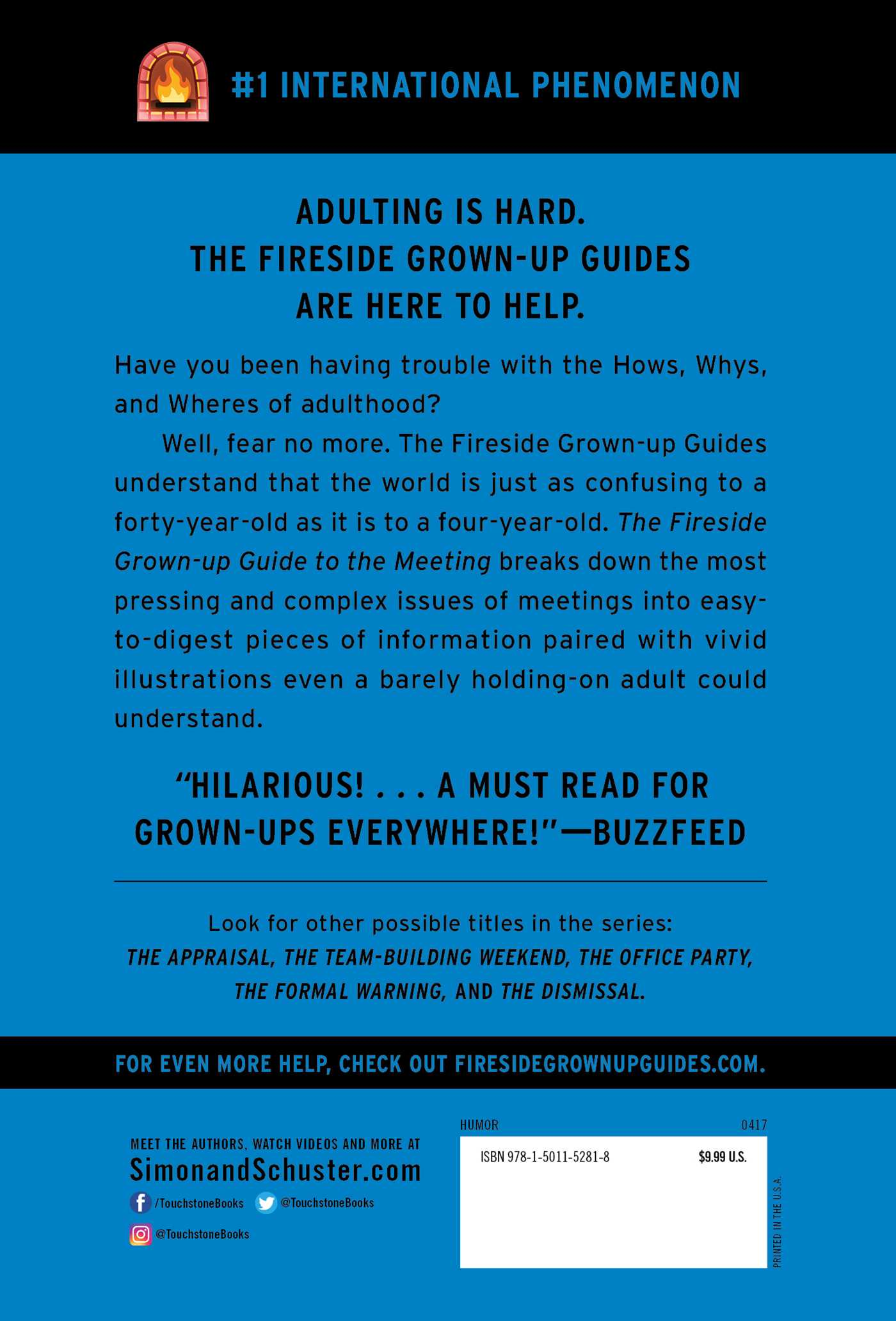 The fireside grown up guide to the meeting 9781501152818 hr back