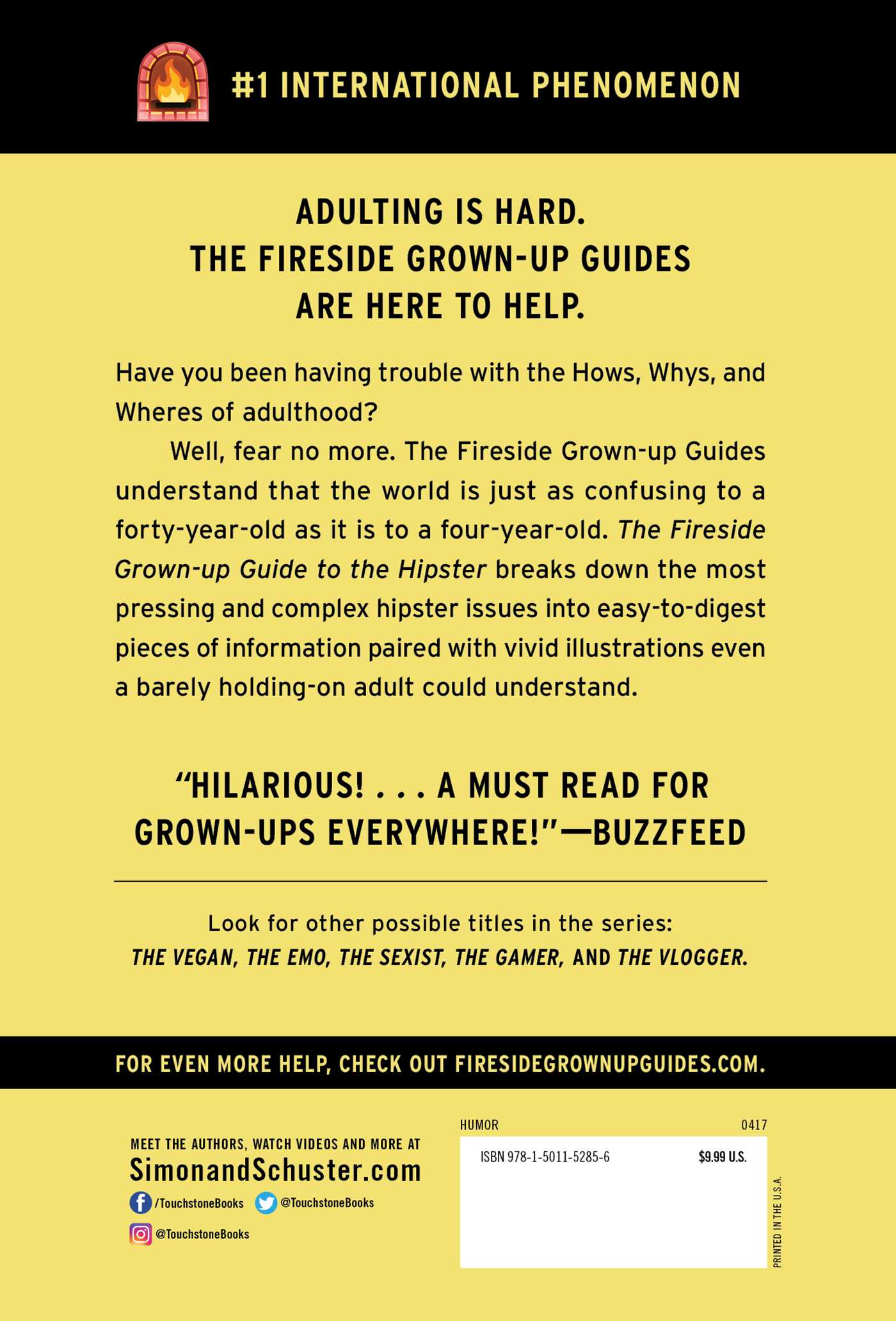 The fireside grown up guide to the hipster 9781501152856 hr back
