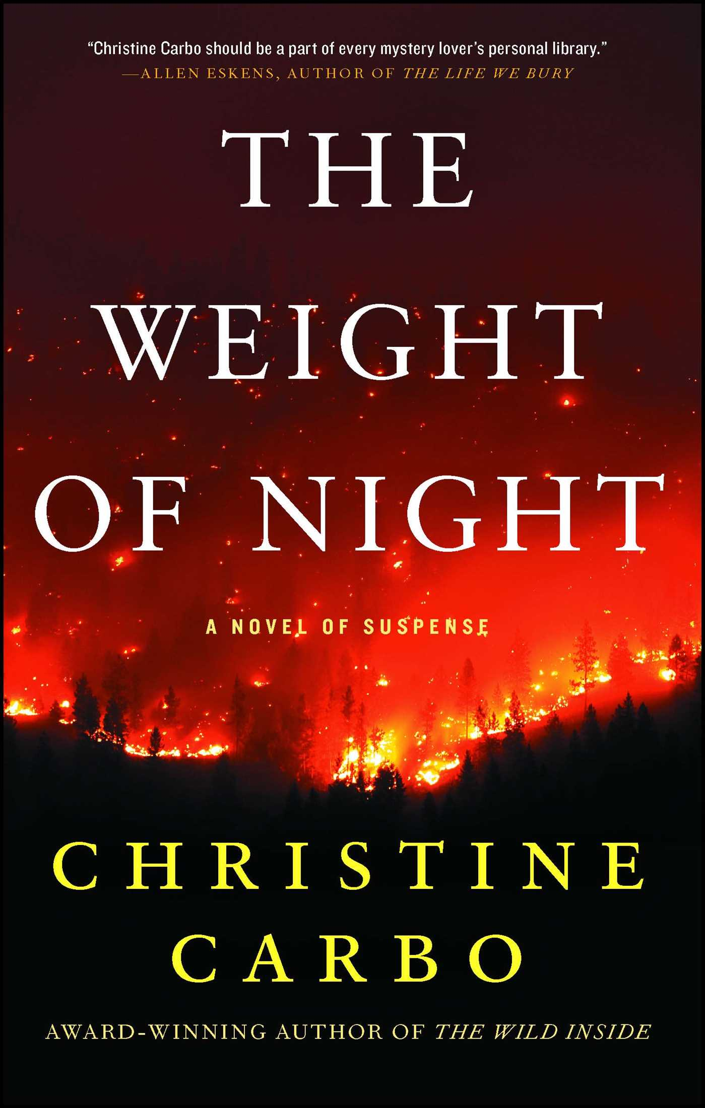 The weight of night 9781501156236 hr