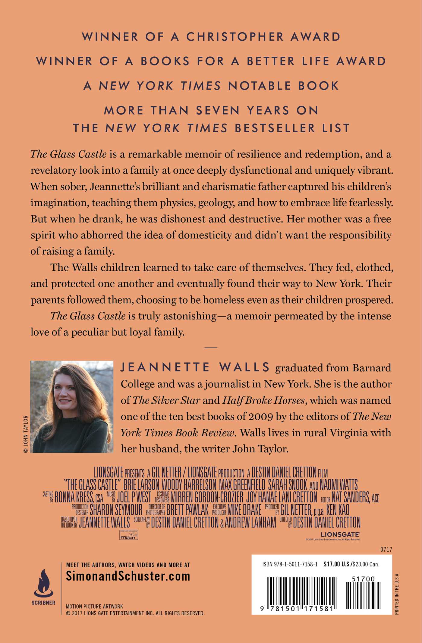 the glass castle book by jeannette walls official publisher the glass castle 9781501171581 hr the glass castle 9781501171581 hr back