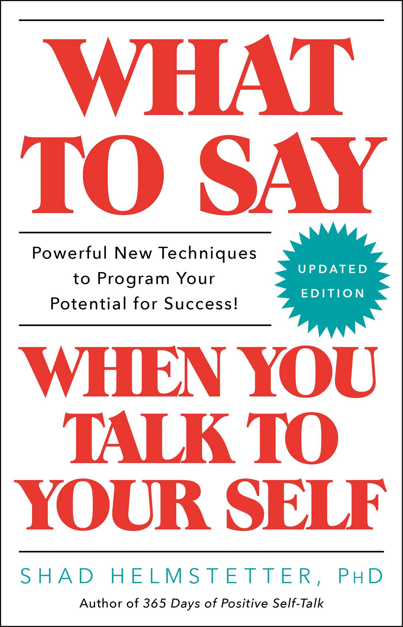 What to say when you talk to your self 9781501171994 hr