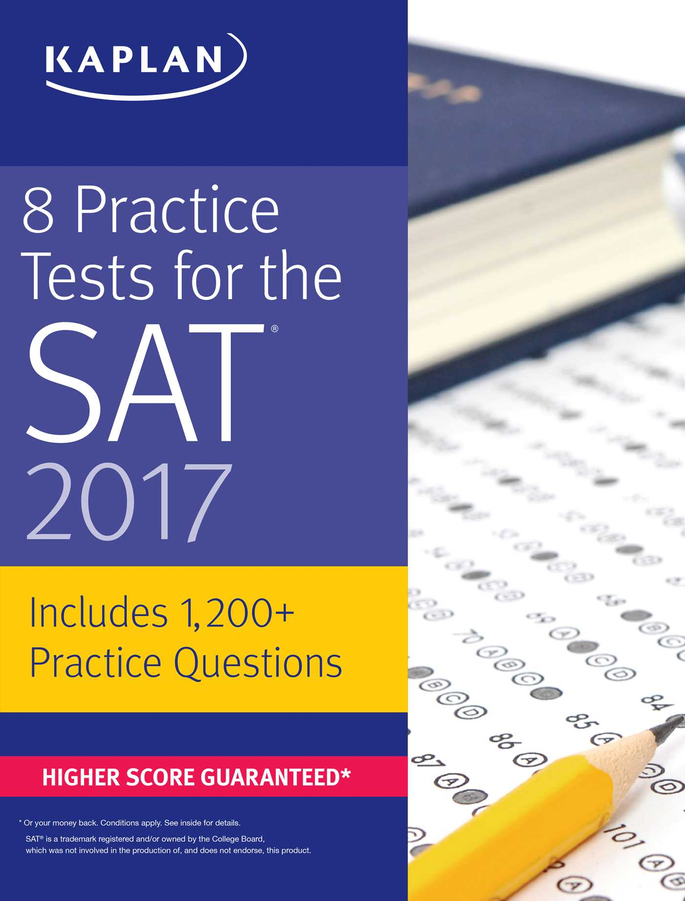 practice tests for the sat book by kaplan test prep  8 practice tests for the sat 2017 9781506202273 hr