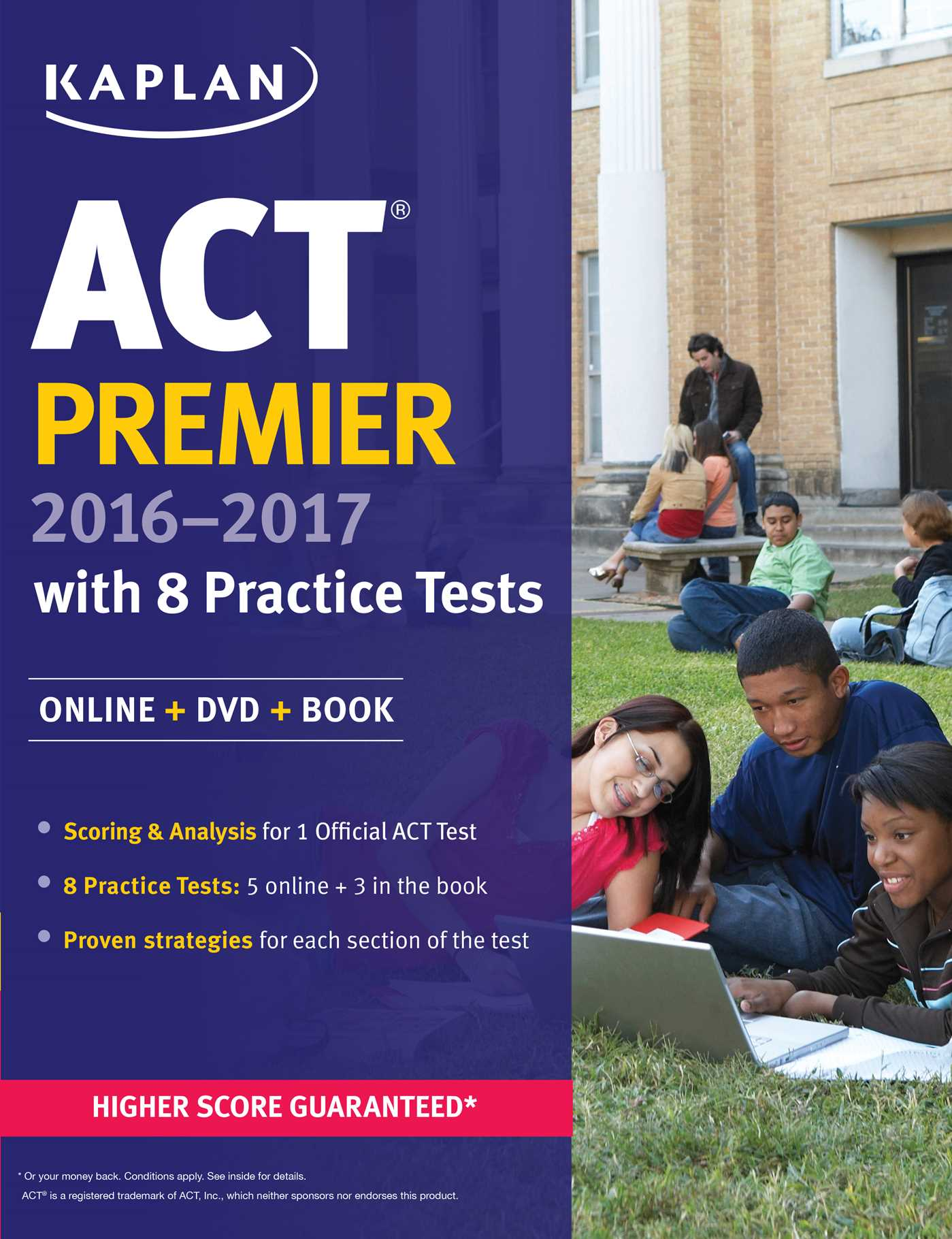 8 ACT Practice Tests: Includes 1,728 Practice Questions Kaplan Test Prep