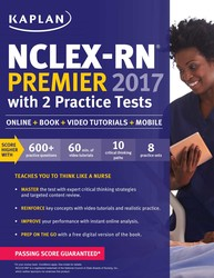 NCLEX-RN Premier 2017 with 2 Practice Tests