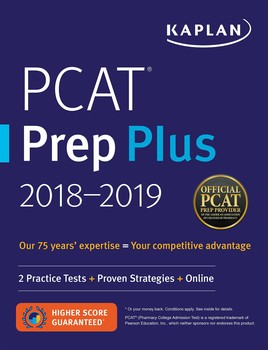 Pcat prep plus 2018 2019 book by kaplan test prep official pcat prep plus 2018 2019 malvernweather Image collections