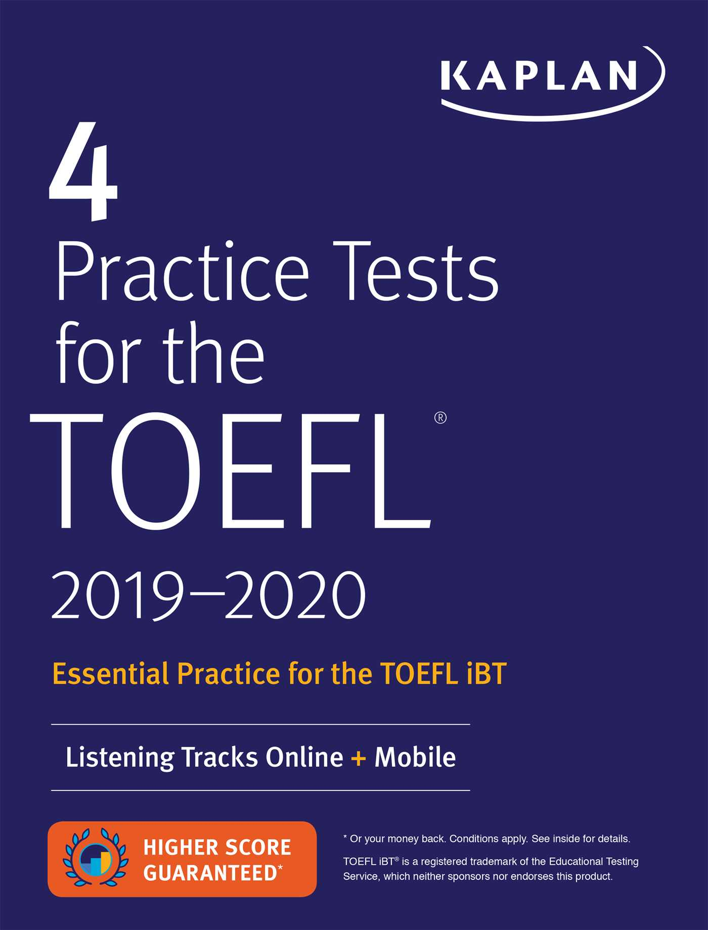 Book Cover Image Jpg 4 Practice Tests For The TOEFL 2019 2020