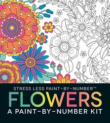 Stress Less Paint-By-Number Flowers