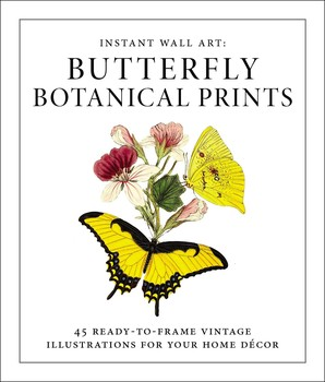 Instant Wall Art - Butterfly Botanical Prints