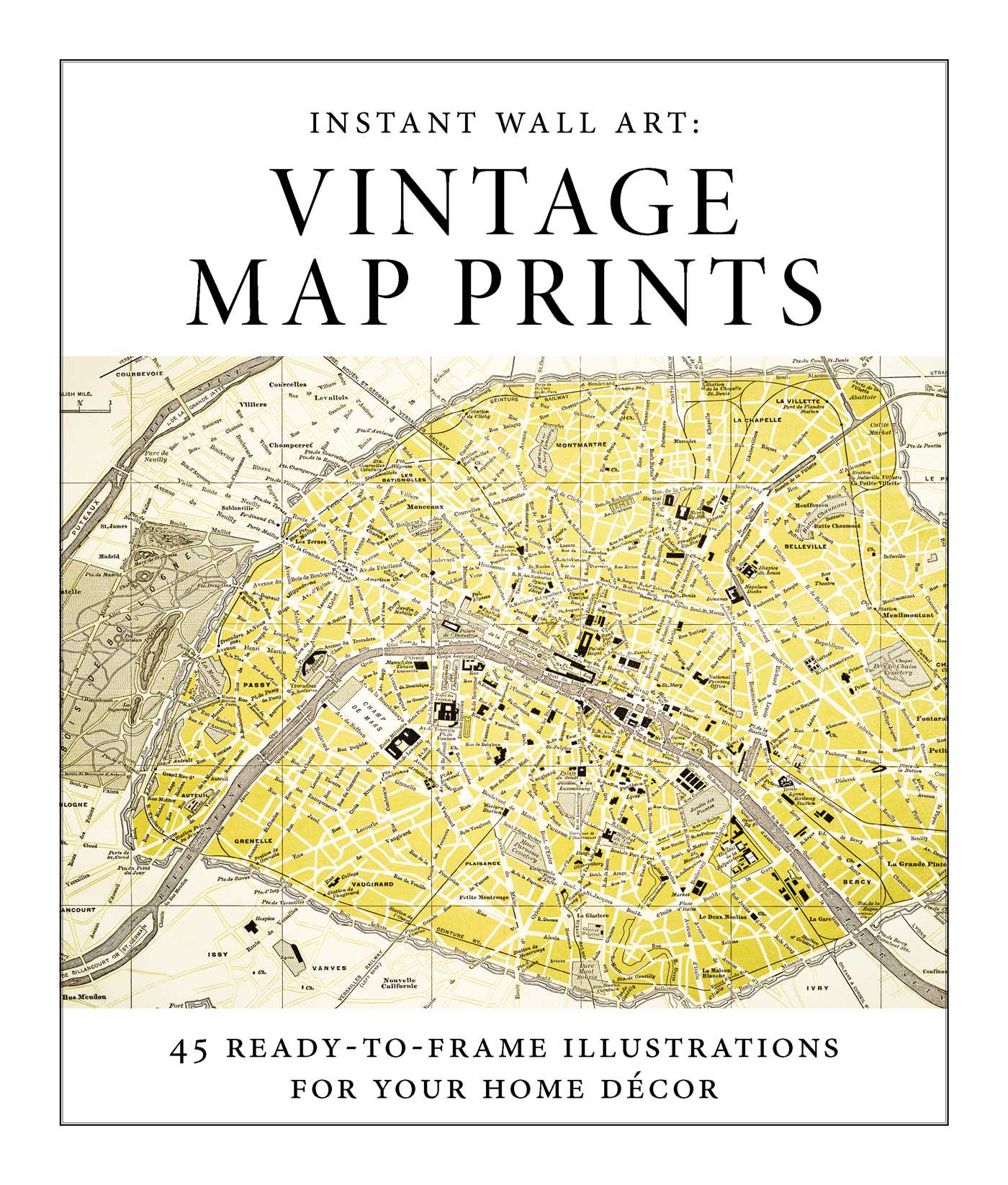 Instant Wall Art - Vintage Map Prints | Book by Adams Media ...