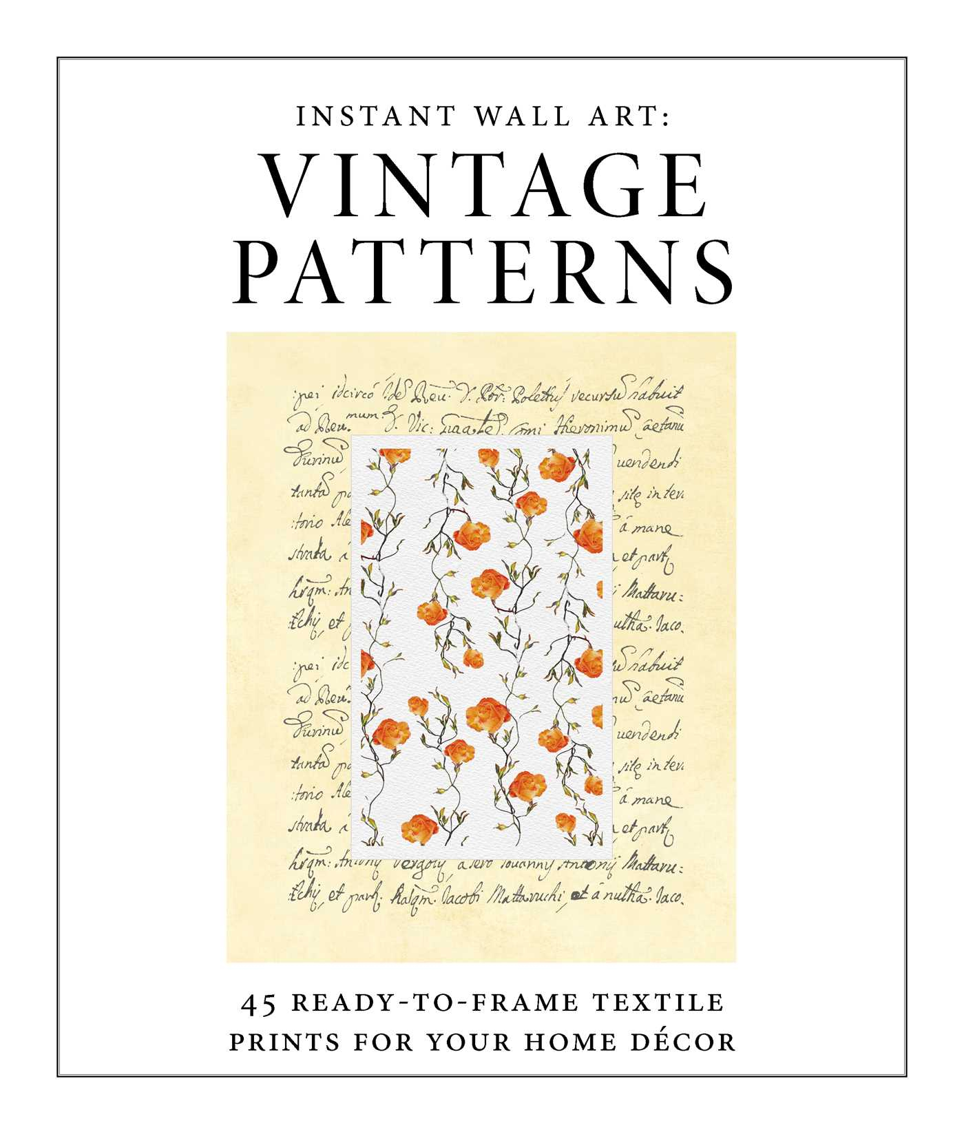 Instant wall art vintage patterns 9781507205938 hr