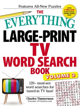 The Everything Large-Print TV Word Search Book, Volume 2