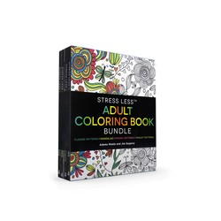 Stress Less Adult Coloring Book Bundle
