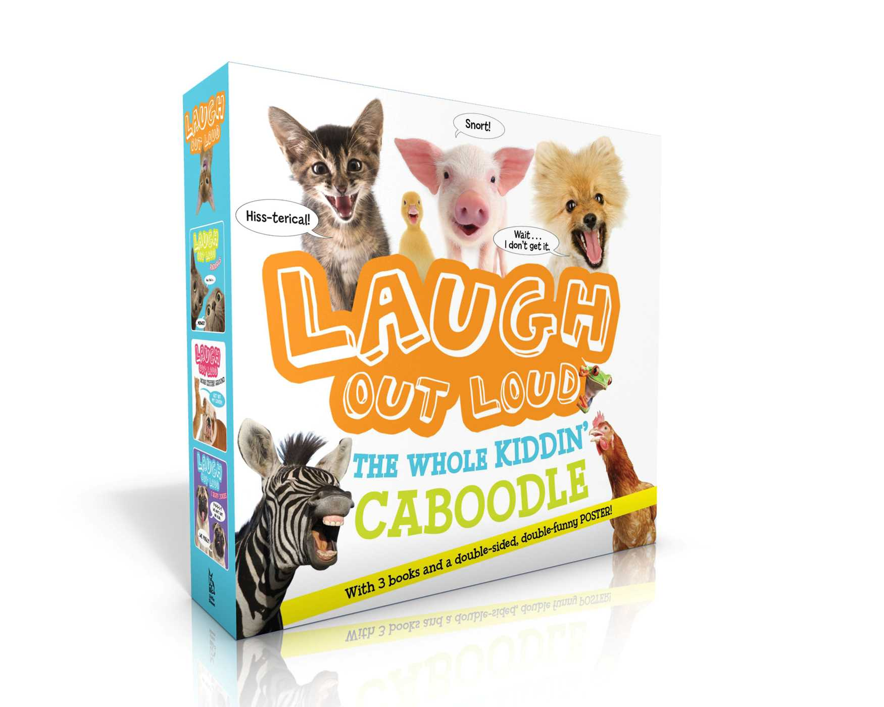 Laugh out loud the whole kiddin caboodle with 3 books and a double sided double funny poster 9781534401877 hr