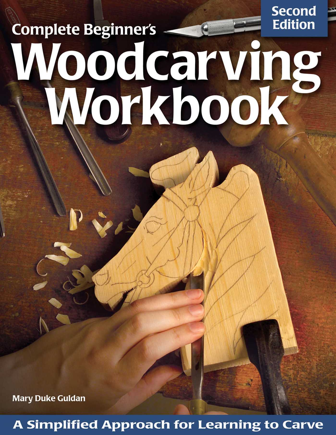 Complete beginner s woodcarving workbook book by mary guldan