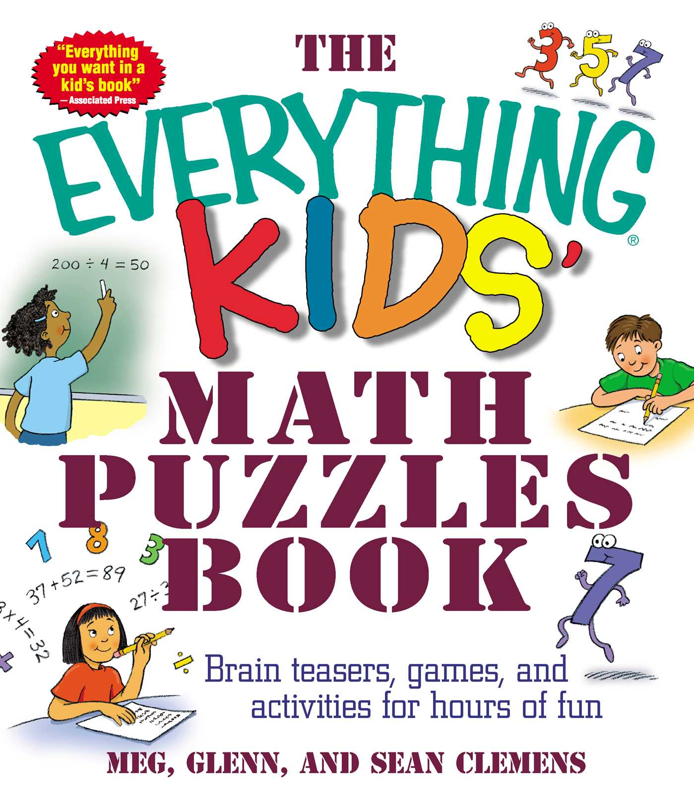 Book Cover Image Jpg The Everything Kids Math Puzzles