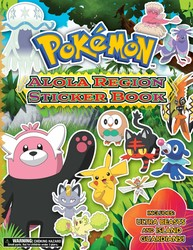 Pokémon Alola Region Sticker Book