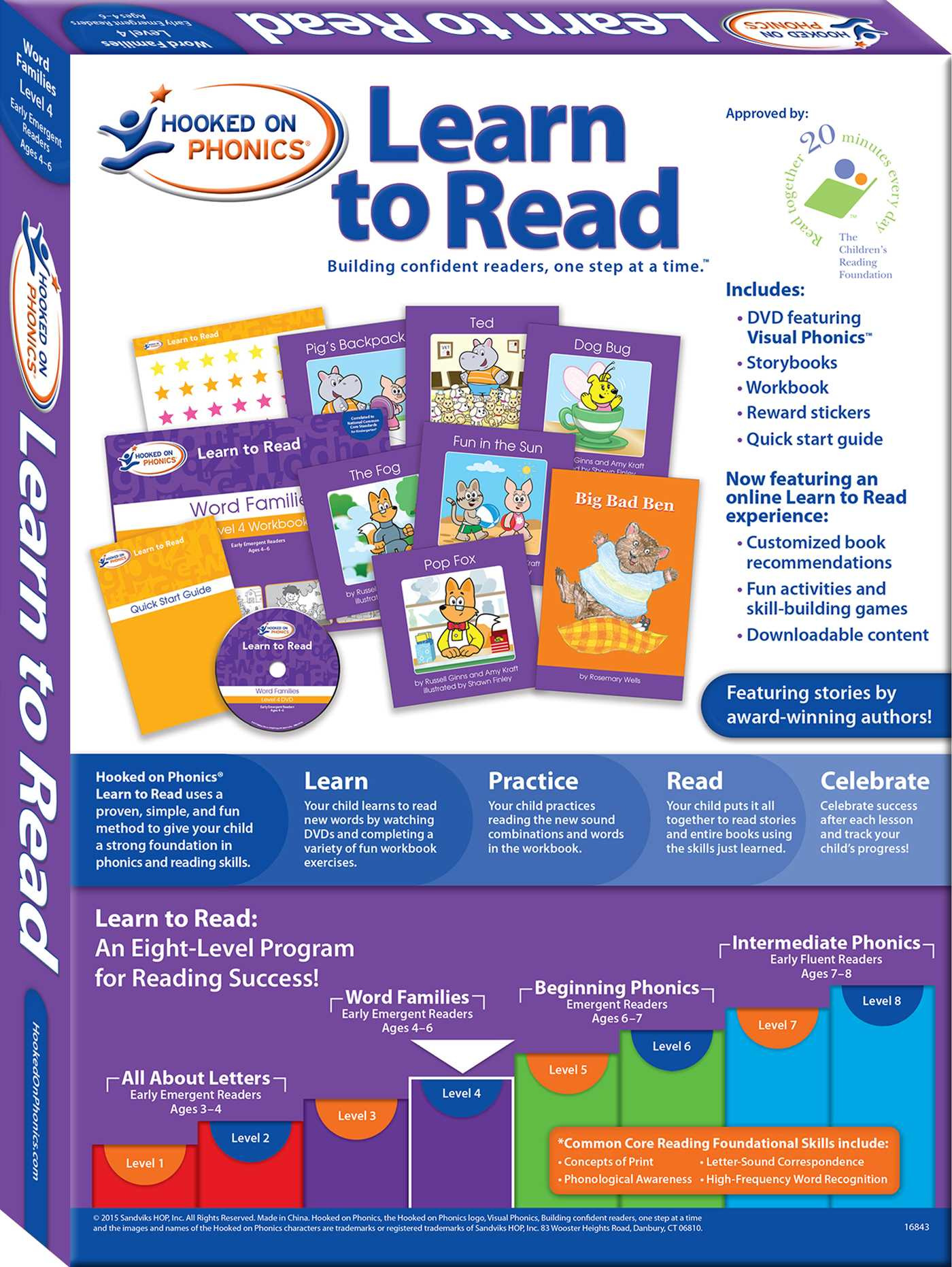Hooked on phonics learn to read level 4 book by hooked on hooked on phonics learn to read level 4 word families 9781604991420 hr back aljukfo Images
