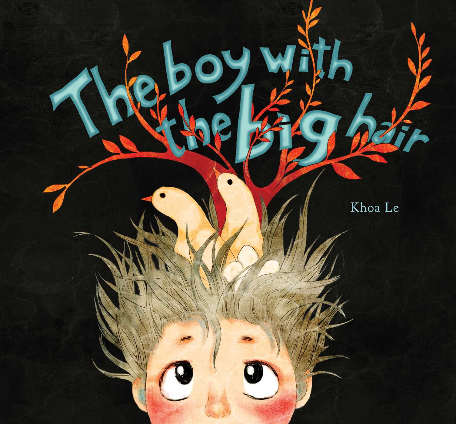 Book Cover Watercolor Hair : The boy with big hair book by khoa le official
