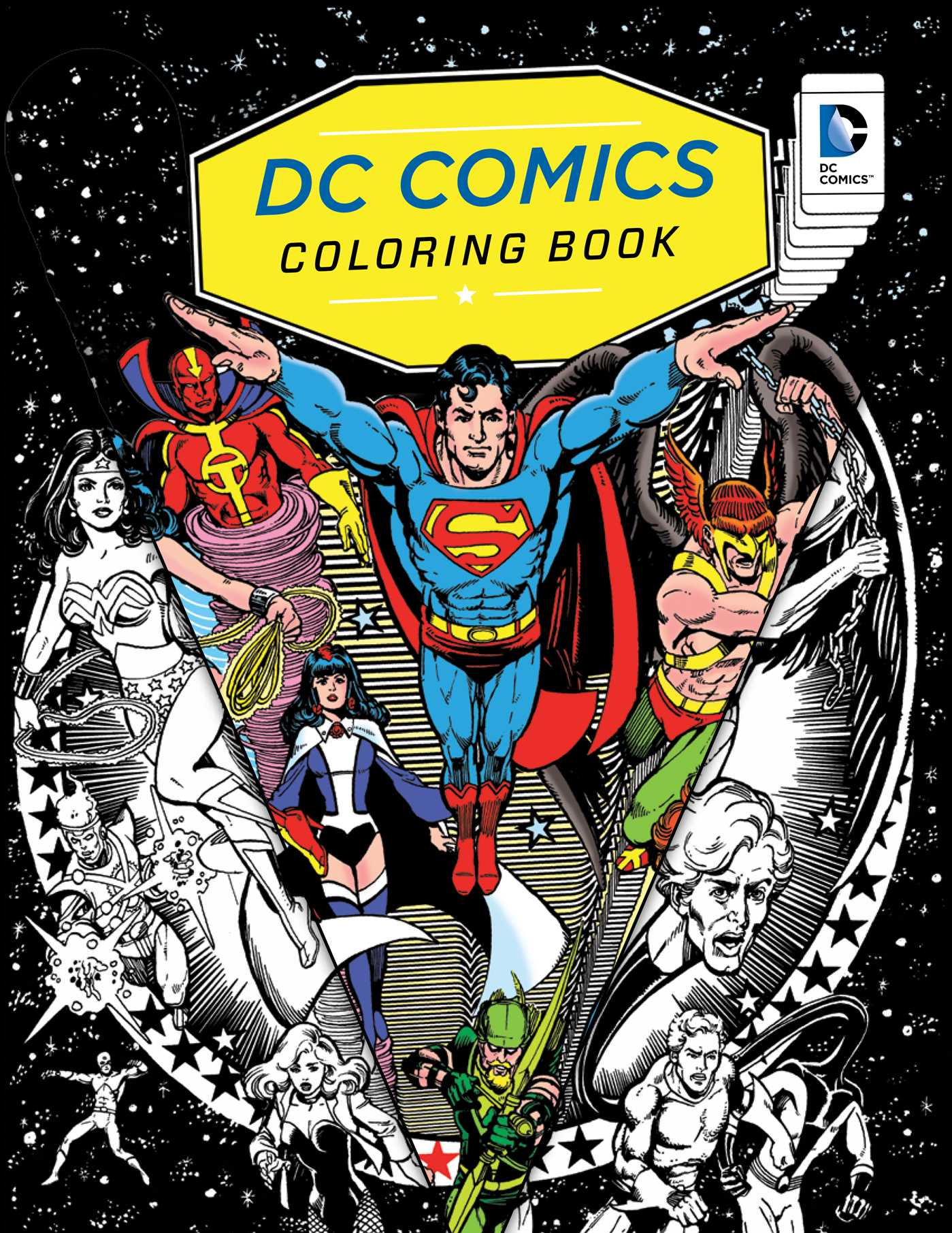 dc comics coloring book book by insight editions official