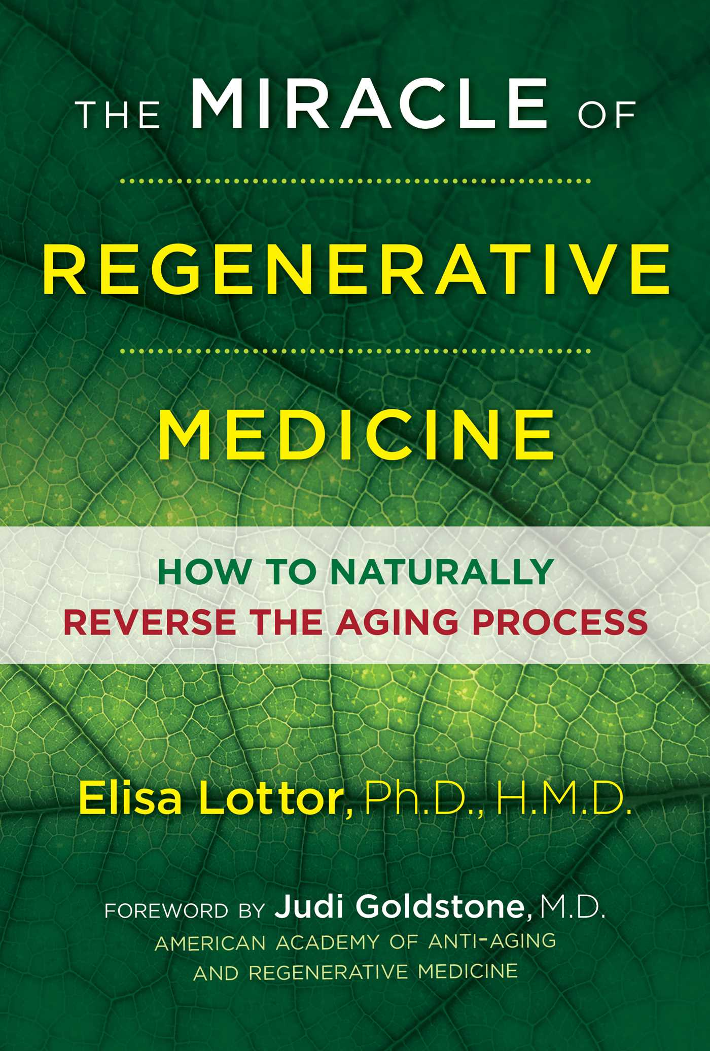 The miracle of regenerative medicine 9781620556030 hr