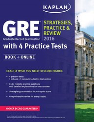 GRE® 2016 Strategies, Practice, and Review with 4 Practice Tests