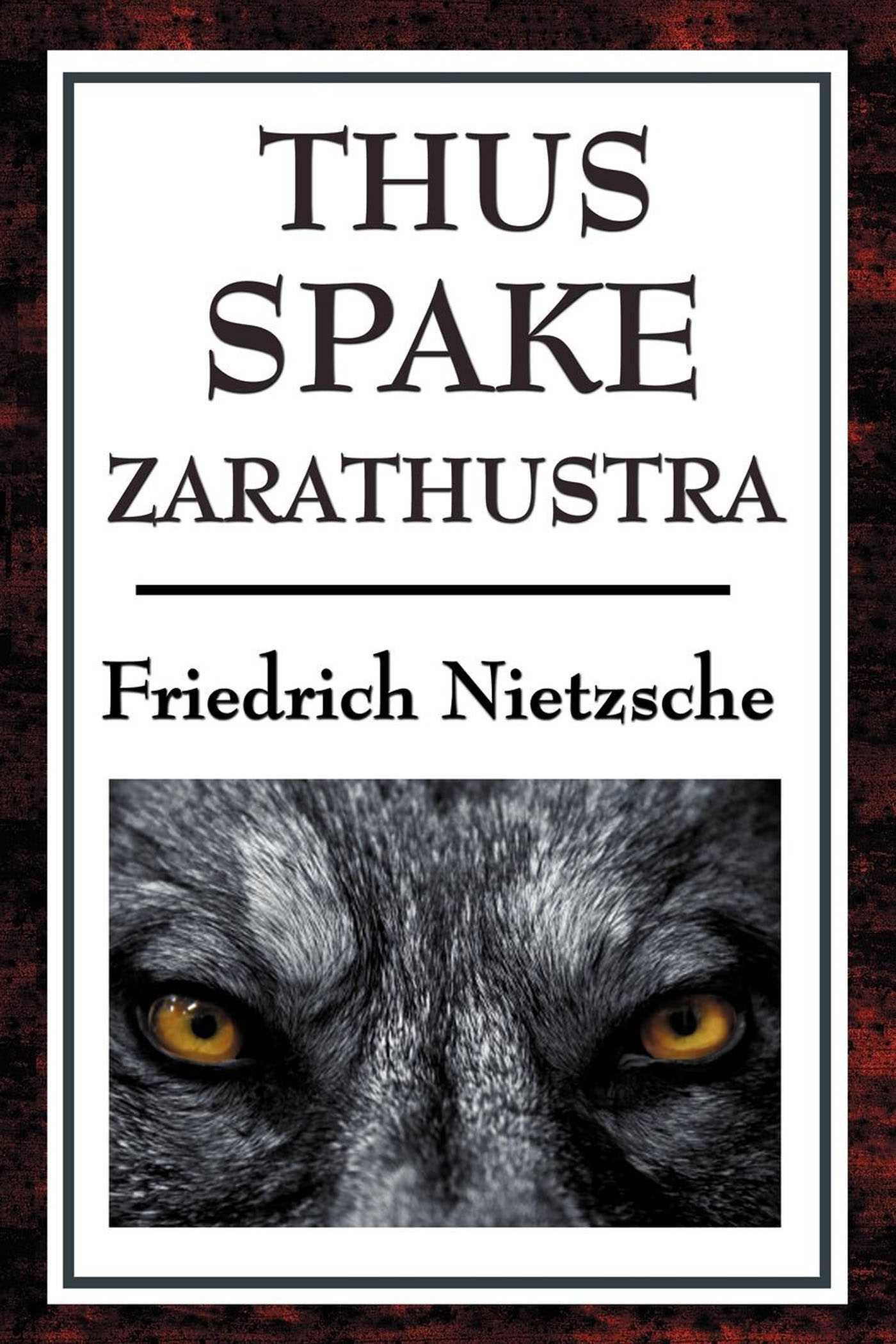 zarathustra in nietzsche's typology Nietzsche's formula for this point of  that of the speech 'on the tarantulas' in zarathustra:  nietzsche's typology aims to elucidate and.