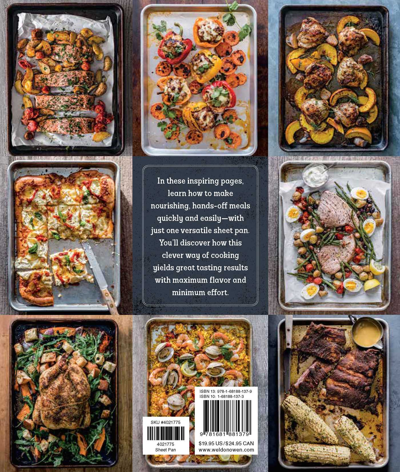 Sheet pan dinners 9781681881379 hr back