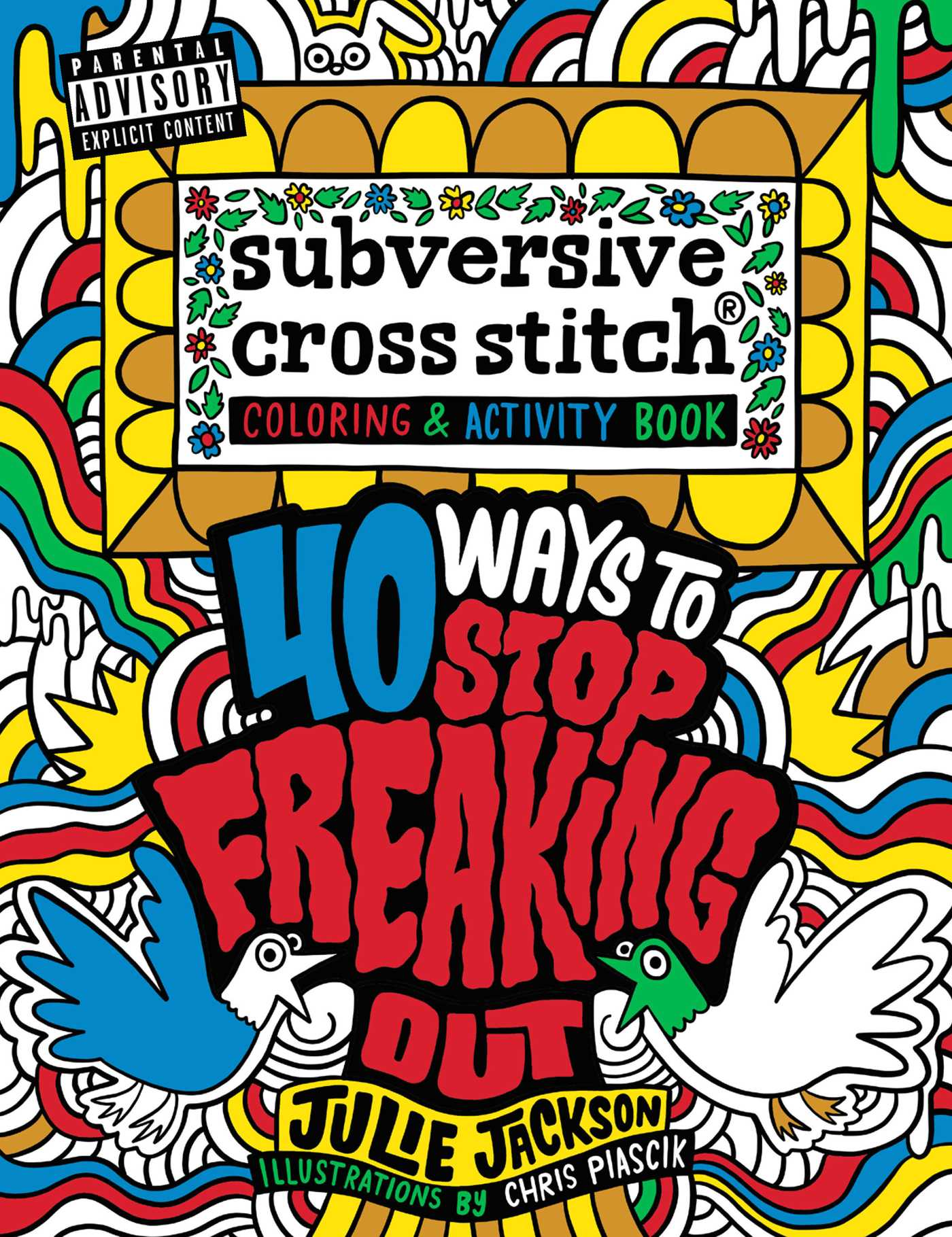 subversive cross stitch coloring and activity book 9781681881799 hr