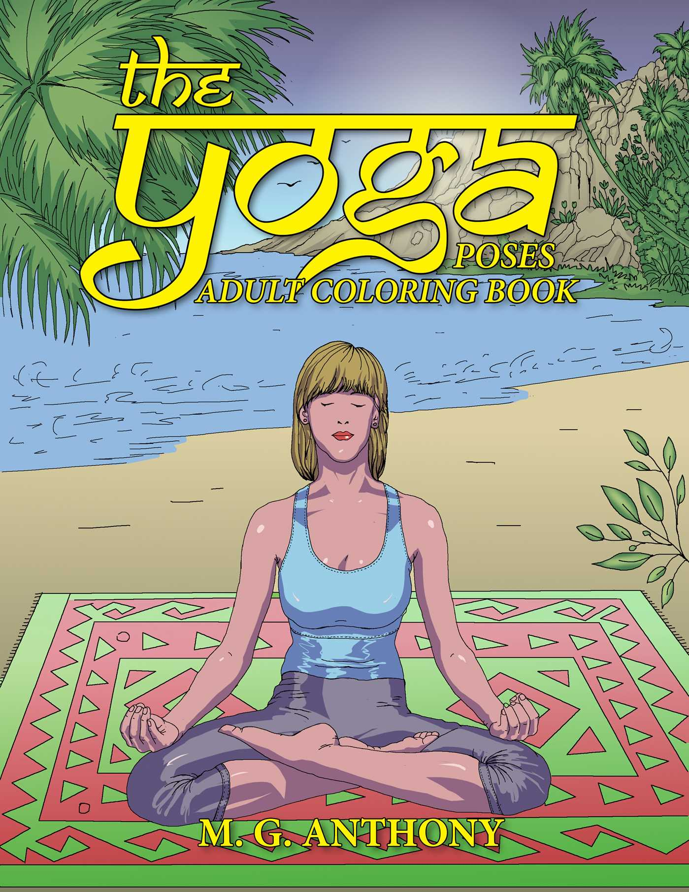 The Yoga Poses Adult Coloring Book 9781682611302 Hr