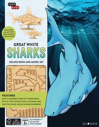 IncrediBuilds: Great White Sharks Deluxe Book and Model Set